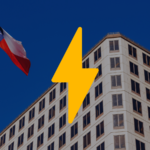 A lightening bolt in front of a Texas building